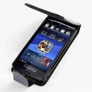 NEW Black Leather Case FOR Sony Ericsson Xperia Arc X12