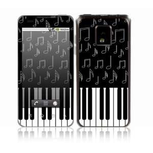 Piano Design Decorative Skin Cover Decal Sticker for LG T mobile G2x