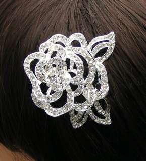 Big Bridal Wedding Party Rose Hair Comb FREE SHIP K540