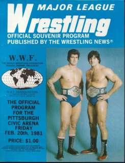 20/1981 BRUNO SAMMARTINO STAN HANSEN WWF PROGRAM MLW