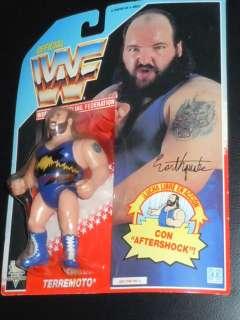 WWF Hasbro Earthquake figure rare wwe figure moc French Card