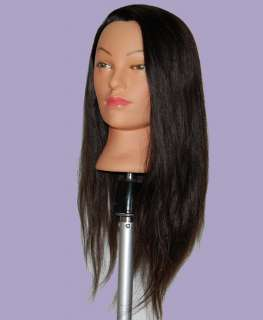 24 Cosmetology Mannequin Head HUMAN Hair W/Clamp o
