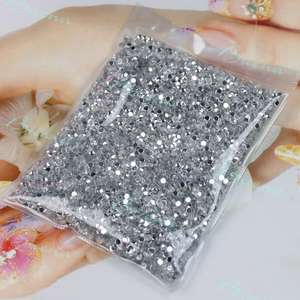 Round Rhinestone Clear Crystal Nail Art Tip Decoration 2mm
