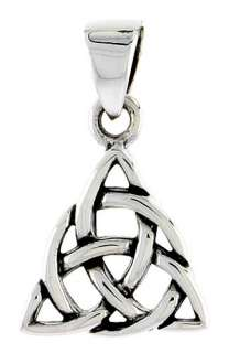 Sterling Silver Celtic Triangle Pendant Charm PA2043