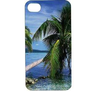 Clear Hard Plastic Case Custom Designed Tropical Beach & Palm Tree