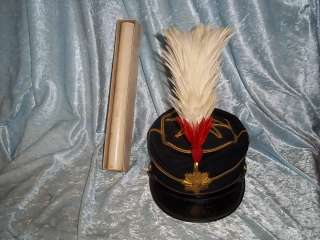 Japanese Meiji Army Officers Dress Cap With Cased Plume
