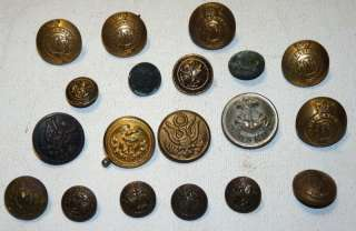 WWI WWII World War 2 US Uniform Buttons & More Lot
