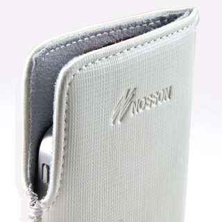 White genuine leather sleeve case cover for apple iphone 4 4gs 3gs 3G