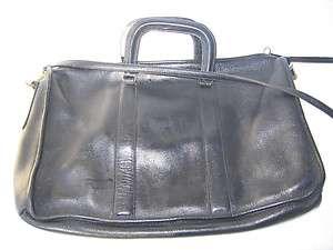 leather Harve Bernard Attache Briefcase Laptop Bag Messenger case Vtg