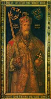 and Latin as Karolus Magnus, by the German artist Albrecht Durer