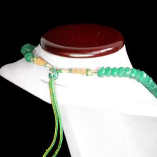 TOP GRADE SELLING AAA 442.00 CARAT NATURAL FACETED GREEN EMERALD BEADS