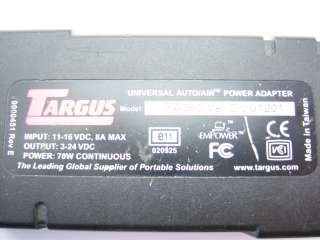 Targus Universal Auto / Air Power Adapter PA350 J1201
