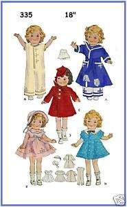 335 Shirley Temple Patsy Ann Doll wardrobe pattern 18