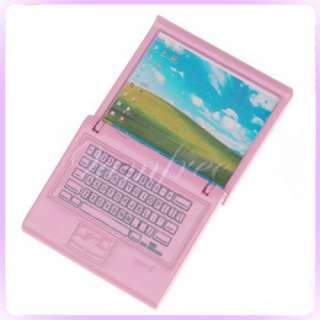 Pink Wooden Lady Laptop Notebook Dollhouse Miniature