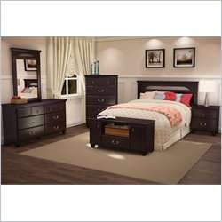 South Shore Dover Full/Queen Wood Panel Dark Mahogany Finish Headboard