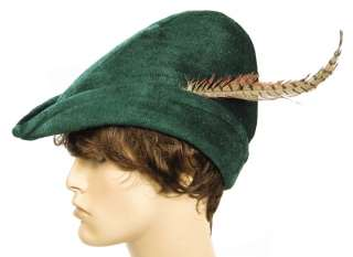 ROBIN HOOD Nottingham Green Renaissance Costume HAT