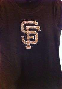 SAN FRANCISCO GIANTS BASEBALL RHINESTONES bling SHIRTS