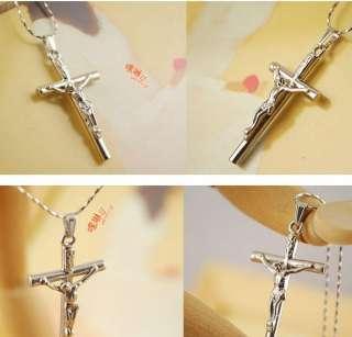 new fashion silver jesus cross pendant cute chain woman necklace loyal