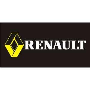RENAULT black MEGANE CLIO KANGOO LOGAN DEALER FLAG BANNER