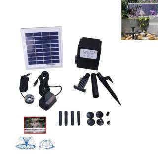3W Solar Power Battery Water Pump LED 3 Watt Fountain