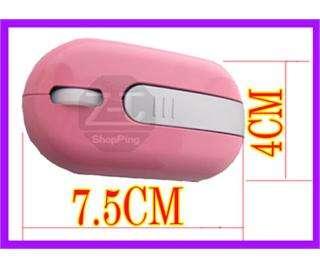 4G USB Wireless PC Laptop Optical Mouse Mice Pink