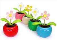 Solar Powered Flip Flap Dancing Baby Toy Flower New