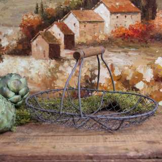 Antique Style Shabby Style Chic Wire Basket Home Decor