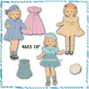 4623 Shirley Temple Doll Wardrobe Pattern vintage 18
