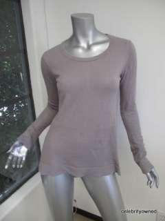 Kristense Du Nord Light Purple Cashmere Long Sleeve Scoop Neck Sweater