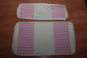 golf cart seat covers 2000 up club car pink & white