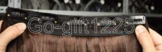Hot Sale 25*60cm High Quality Clip On Straight Hair Extension