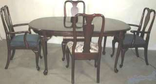 Ethan Allen Georgian Court Table 11 6214 & Leaves
