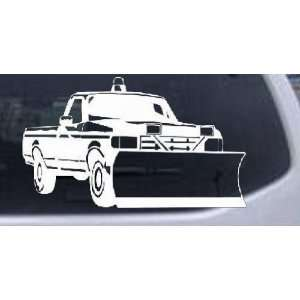 Snow Plow Truck Business Car Window Wall Laptop Decal Sticker    White