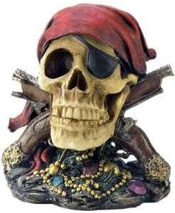 Jolly Roger Pirate Skull Figurine / Statue