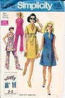 Vtg 60s Pattern Misses Tunic Dress Pants Size 12