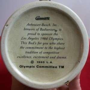 Budweiser Beer Stein 1984 Olympics Mug Los Angeles CA Made In Brazil
