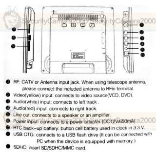 Digital Color TFT LCD Monitor for CCTV Camera TV