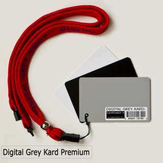 sale is one Premium Digital Grey Kard certified white balance card