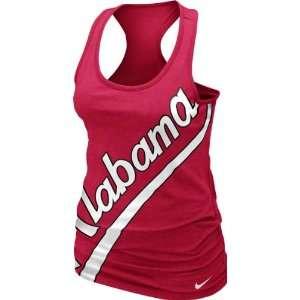 Alabama Crimson Tide Womens Crimson Nike Boyfriend Tank