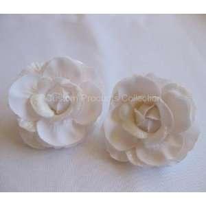 White Rose Wedding Birde Hair Flower Clip Barrette  One