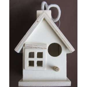 Unfinished WOOD BIRD HOUSE BIRDHOUSE Cottage w Hanging