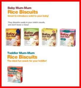 6x Hot Kid Baby Toddler Mum mum Rice Rusk Boxes