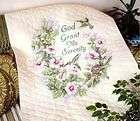 14x14 Stamped Cross Stitch KIT God Grant Me Serenity Lighthouse