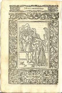 1521   JESUS AS GARDENER   small full page woodcut