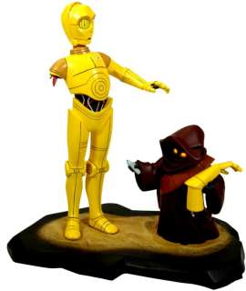 Star Wars C3PO and Jawas Gentle Giants Statue Maquette
