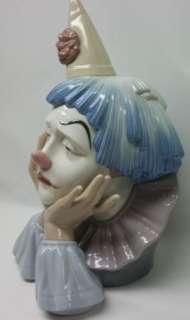 Lladro JESTER Sad Clown Head Bust #5129 Porcelain Figurine