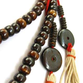 Big Delicate Tibetan 108 Yak Bone Prayer Beads MALA Necklace  28 20