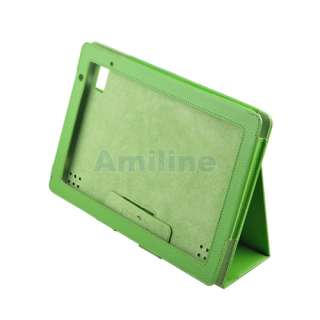 Acer Iconia Tab A500 Folio Leather Case Cover Stand Green 1000290279