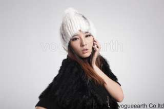 669 new real knitted mink fur 3 color hat /caps