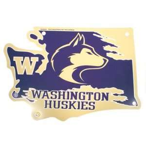 Die Cut Washington Huskies State Sign